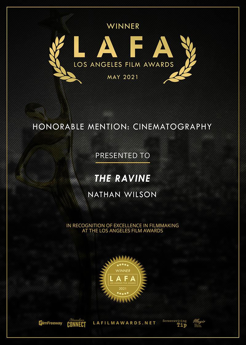 LAFA Honorable Mention Cinematography